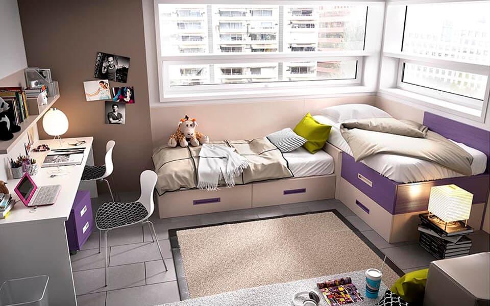 dormitorio juvenil en muebles ceao