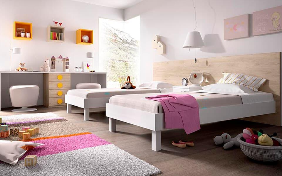 Juveniles de dos camas fabulous dormitorio juvenil con - Dormitorios infantiles dobles ...