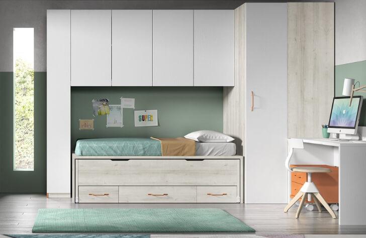Dormitorio juvenil en muebles ceao - Mueble juvenil diseno ...